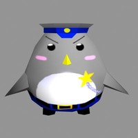 cute penguin 3d model