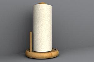 paper towel holder 3d lwo