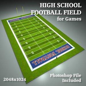 3ds school football field