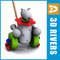 baby toy pull 3d model