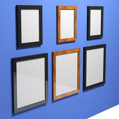 basic picture frames scale 3d max