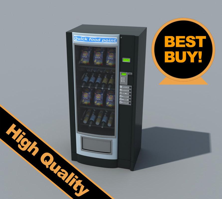 3d snacks vending machine model