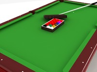 Snooker Table Set - High Quality 3d model
