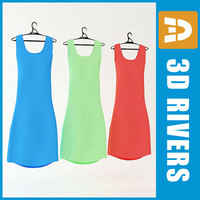 3d summer dress set