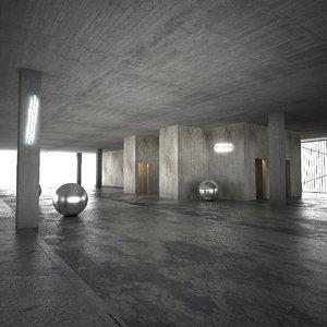 derelict floor building games 3d model