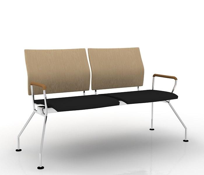 3d model tandem chair