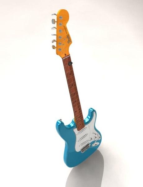 3d fender guitar model