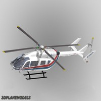 3d model eurocopter ec-145 meravo helicopters