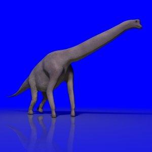brachiosaurus dinosaur 3d max