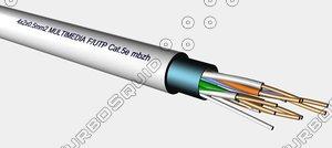 3d 4x2x0 5mm f-utp cat5e model