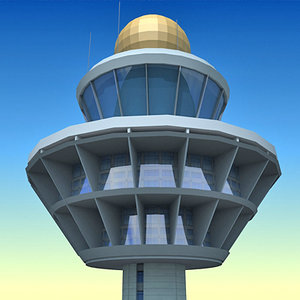 airport control tower 3d max