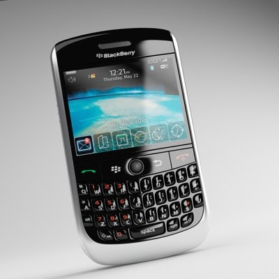 3ds max blackberry curve 8900