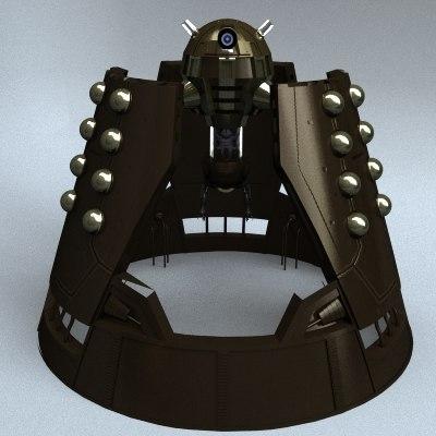 3d model of emperor dalek doctor