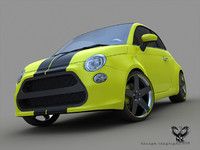 fiat 500 extreme 3d max