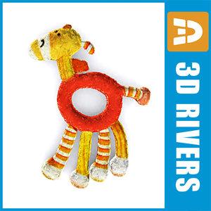 3d model baby toy giraffe hold