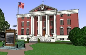 3d 3ds 1955 city hill valley