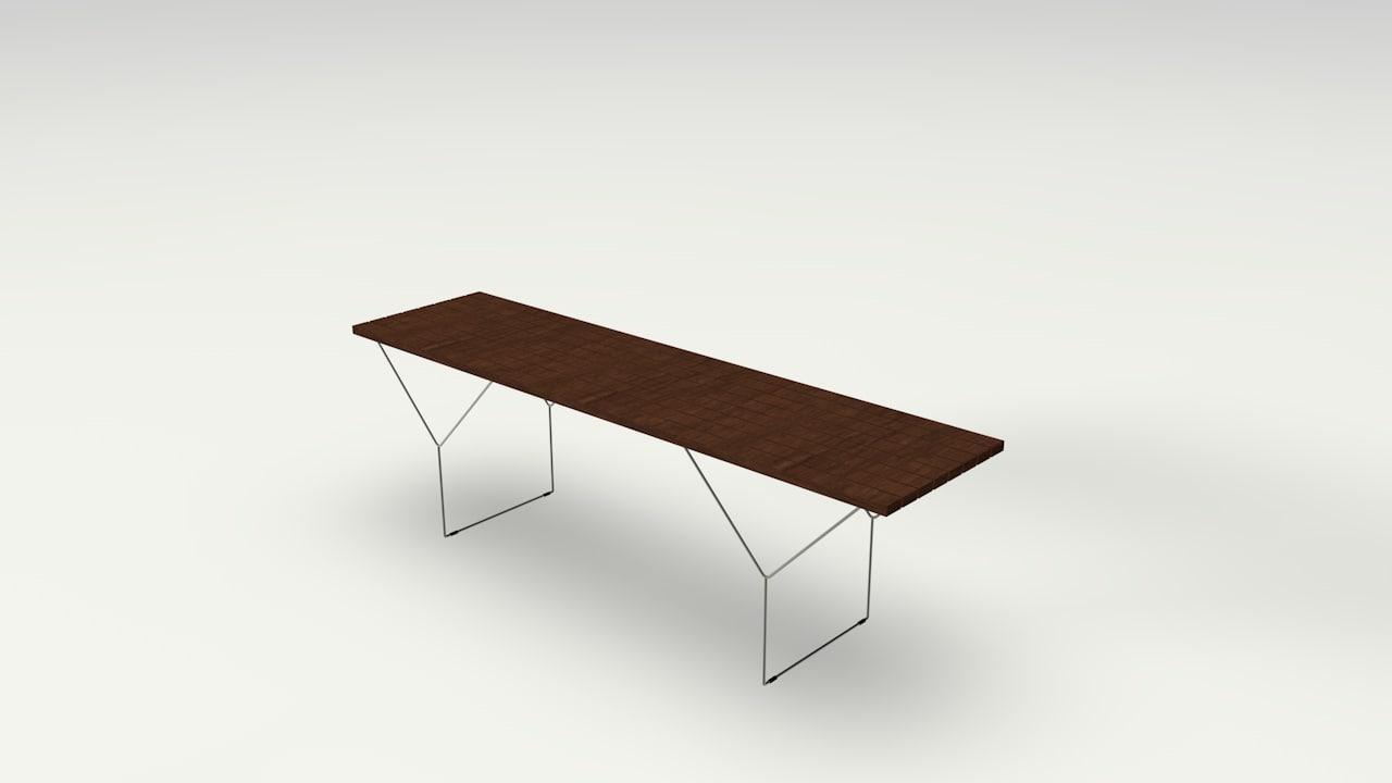 3d model of bertoia bench harry
