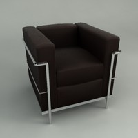 3d corbusier furniture model