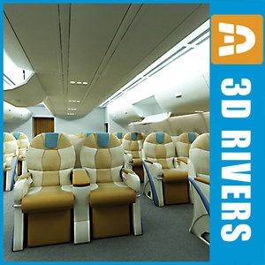 3d airbus business class interior