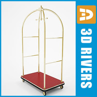 Luggage cart 01 by 3DRivers