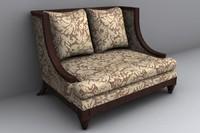 lounge chair 3d lwo
