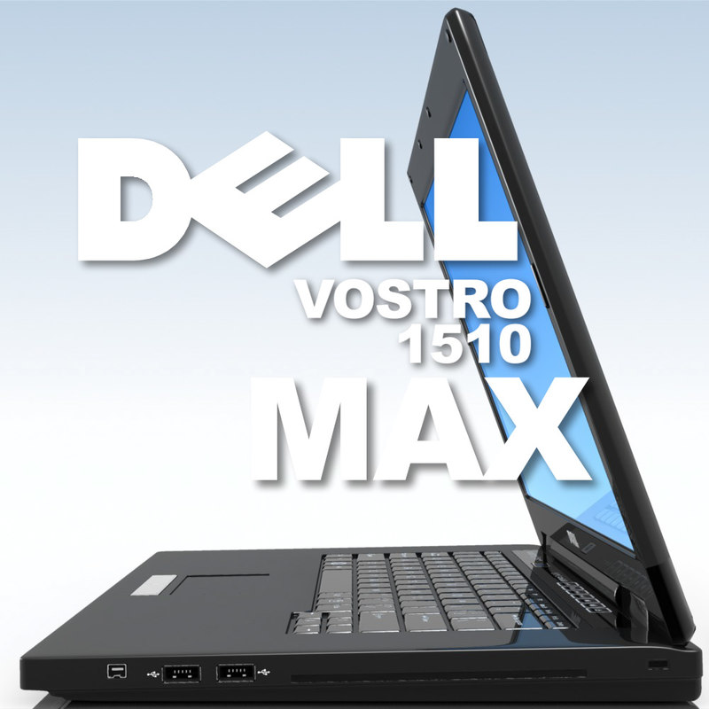 notebook dell vostro 1510 3d model