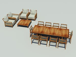 outdoor dinning lounging furniture chair 3d max