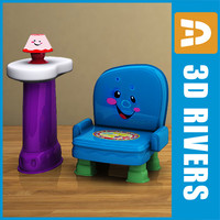 3d furniture toy chair nightstand model