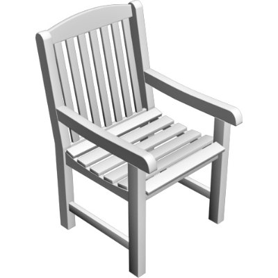 outdoor armchair 3d model