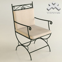 3d model of wrought iron chair