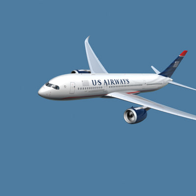 3d model a350-800 airways