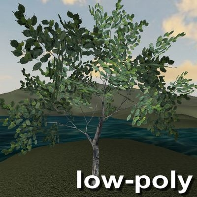 3d tree leaves model
