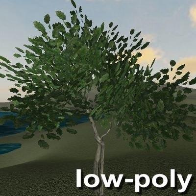 3d model tree leaves