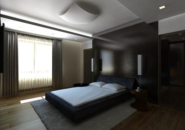 bedroom bed room 3d model