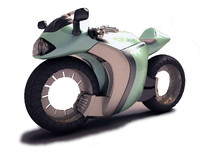 3d sci fi motorcycle