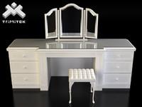 classic lady s desk 3d max
