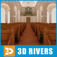 catholic church interior 3d max