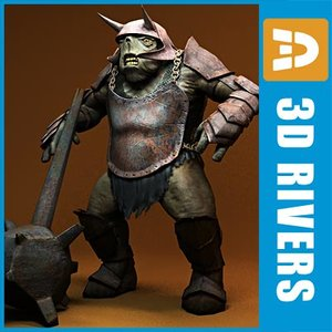 armed cave troll fantasy creatures max