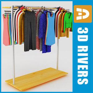 3d model retail clothing rack
