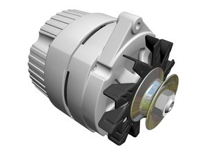 alternator gm delco 3d model