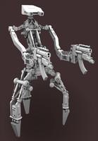 3d droid guns