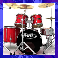 mapex drum kit 3d model