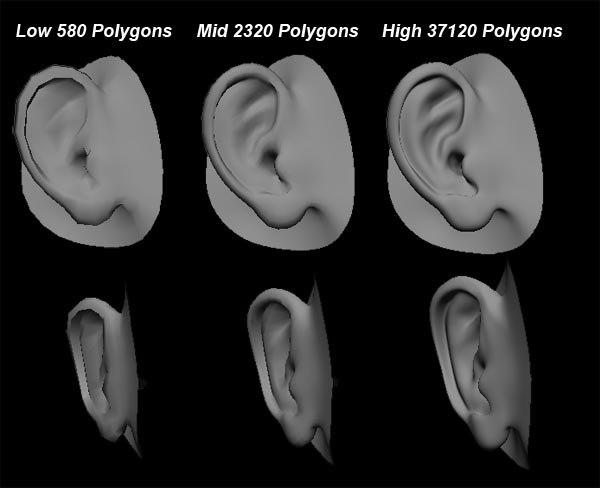 3d human ear