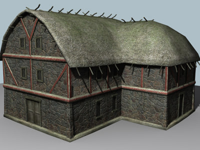 viking village 3d model