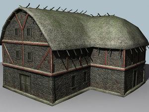 viking village 3d model