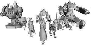 3d finale fantasy 7 enemys model