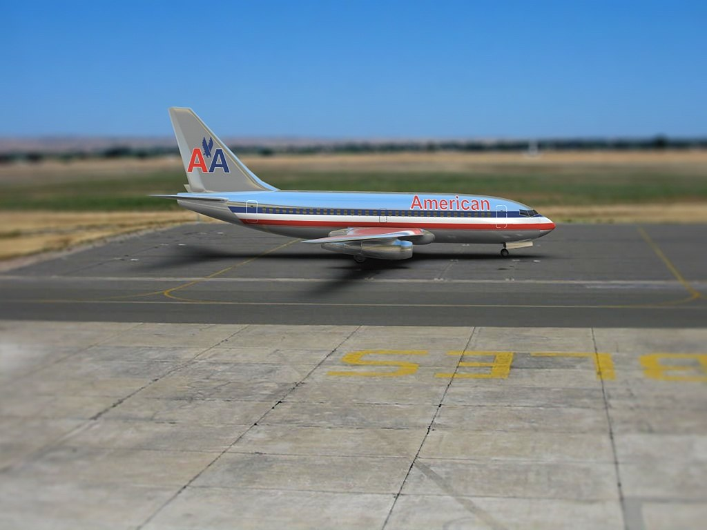 3d air plane american airlines model