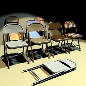 3d folding chair 01