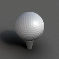 golf ball golfball 3d model