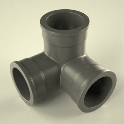 3d industrial pipe model